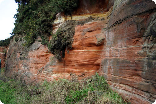 sandstone is an example of a sedimentary rock image