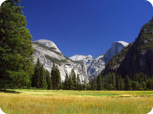 Image of the Sierra Nevada of California are composed mainly of granite