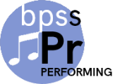 performing music logo