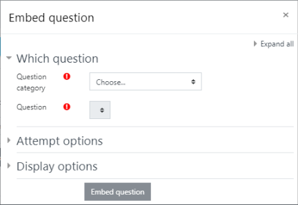 EmbedQuestion Tool